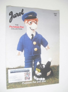 Postman Pat and Cat Jess Toy Knitting Pattern (Jarol E997)