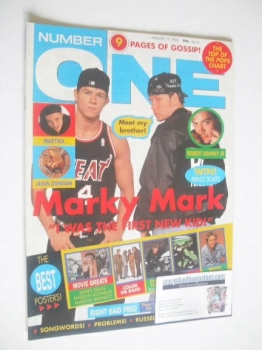 NUMBER ONE Magazine - Marky Mark and Donnie Wahlberg cover (17 August 1991)
