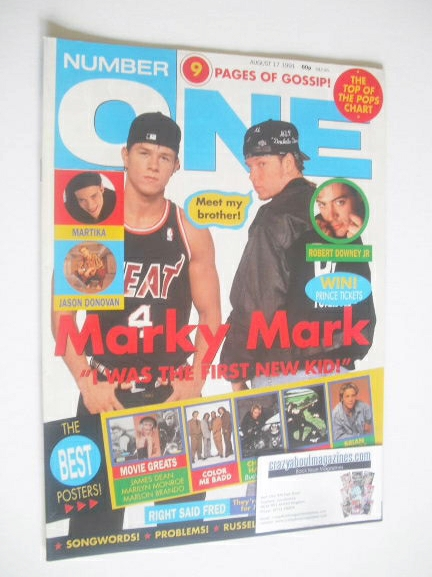 <!--1991-08-19-->NUMBER ONE Magazine - Marky Mark and Donnie Wahlberg cover