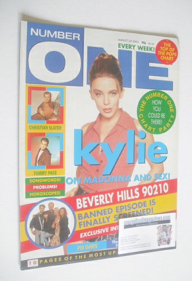 <!--1991-08-24-->NUMBER ONE Magazine - Kylie Minogue cover (24 August 1991)