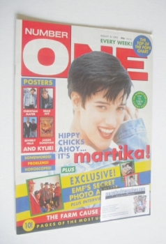 NUMBER ONE Magazine - Martika cover (31 August 1991)