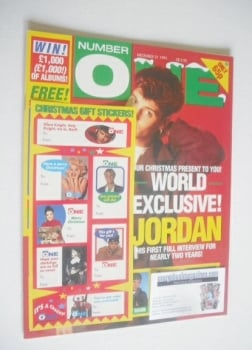 NUMBER ONE Magazine - Jordan Knight cover (21 December 1991)