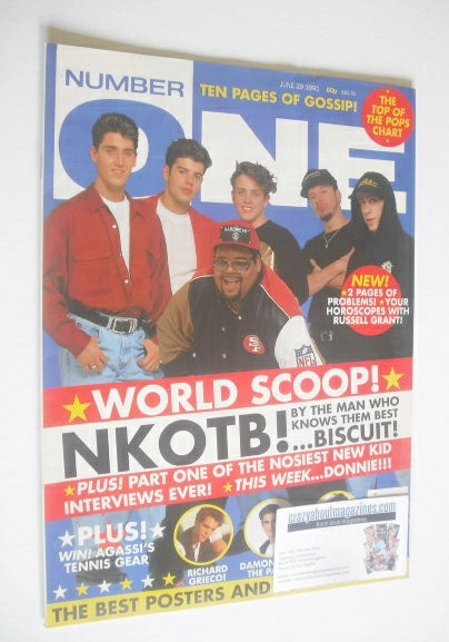 <!--1991-06-29-->NUMBER ONE Magazine - New Kids On The Block cover (29 June