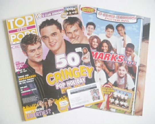 <!--2002-08-->Top Of The Pops magazine - Pop Holiday Hoo-Has cover (August