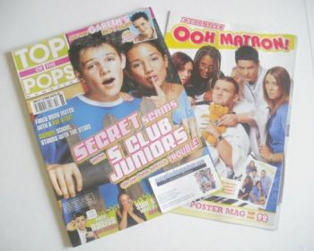 Top Of The Pops magazine - S Club Juniors cover (October 2002)