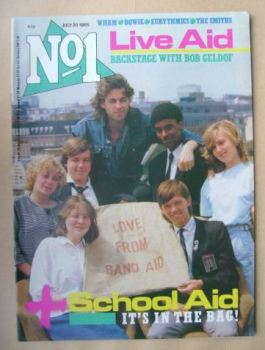 No 1 Magazine - Bob Geldof and School Aid cover (20 July 1985)