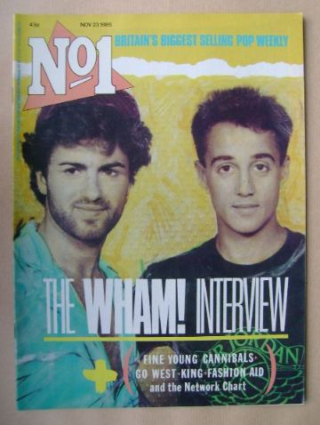 <!--1985-11-23-->No 1 Magazine - Wham cover (23 November 1985)