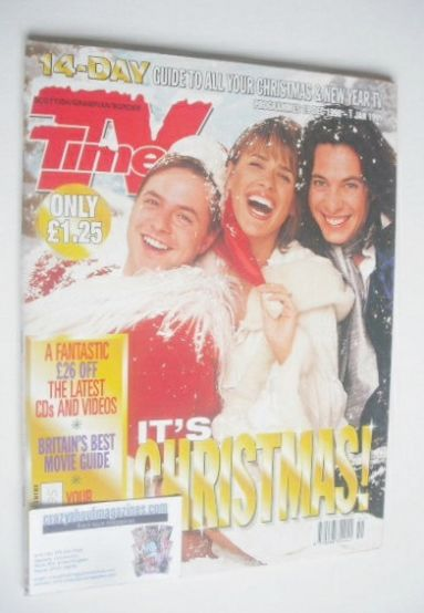 <!--1998-12-19-->TV Times magazine - It's Christmas cover (19 December 1998