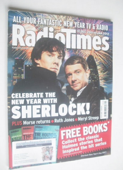<!--2011-12-31-->Radio Times magazine - Benedict Cumberbatch and Martin Fre