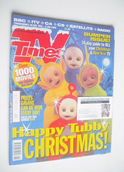 <!--1997-12-20-->TV Times magazine - Teletubbies Christmas cover (20 Decemb