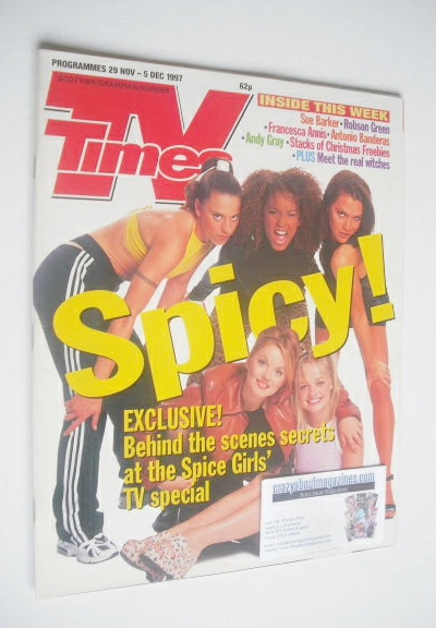 <!--1997-11-29-->TV Times magazine - The Spice Girls cover (29 November - 5