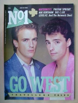No 1 Magazine - Go West cover (30 November 1985)