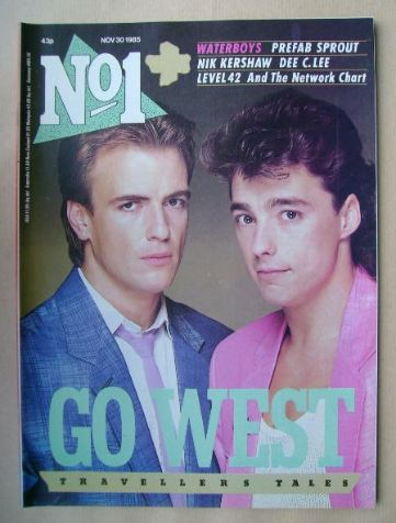 <!--1985-11-30-->No 1 Magazine - Go West cover (30 November 1985)