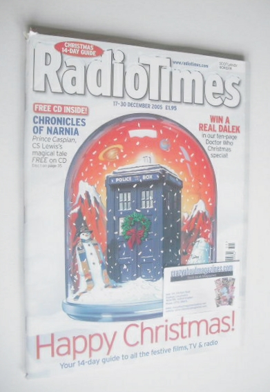 <!--2005-12-17-->Radio Times magazine - Happy Christmas cover (17-30 Decemb