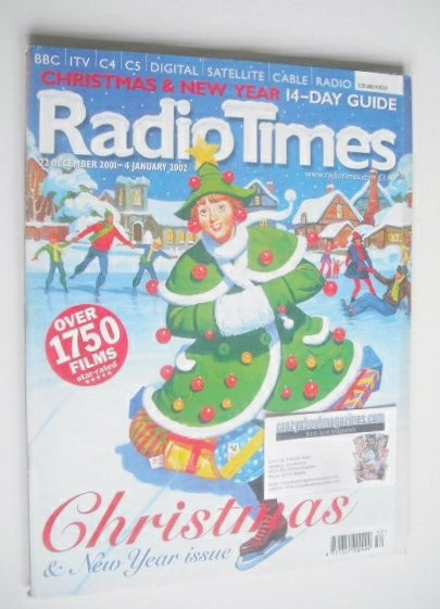 <!--2001-12-22-->Radio Times magazine - Christmas Issue (22 December 2001 -