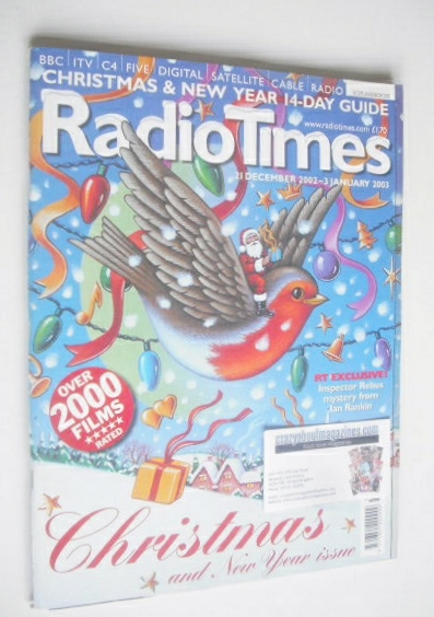 <!--2002-12-21-->Radio Times magazine - Christmas Issue (21 December 2002 -