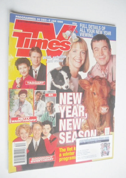 <!--1995-12-38-->TV Times magazine - Richard Hawley and Suzanne Burden cove