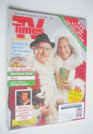<!--1988-12-17-->TV Times magazine - George Cole and Dennis Waterman cover