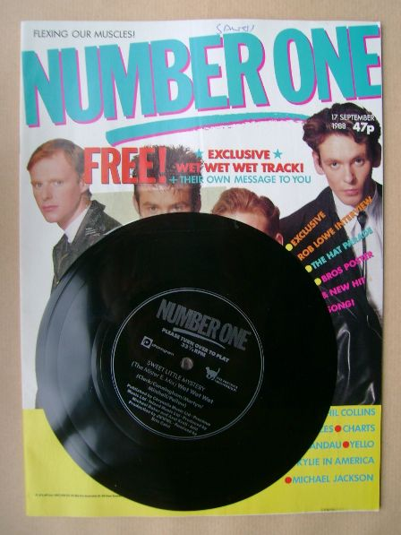 <!--1988-09-17-->NUMBER ONE Magazine - Wet Wet Wet cover (17 September 1988