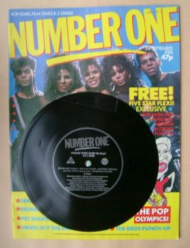 NUMBER ONE Magazine - Five Star cover (24 September 1988)