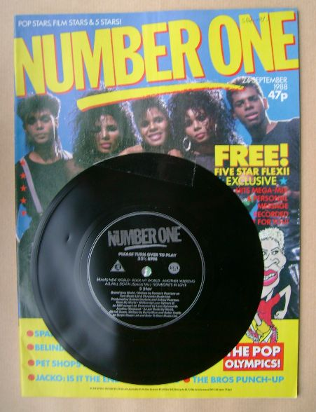 <!--1988-09-24-->NUMBER ONE Magazine - Five Star cover (24 September 1988)