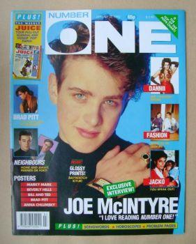 NUMBER ONE Magazine - Joe McIntyre cover (25 January 1992)