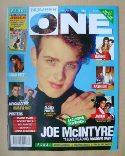 <!--1992-01-25-->NUMBER ONE Magazine - Joe McIntyre cover (25 January 1992)