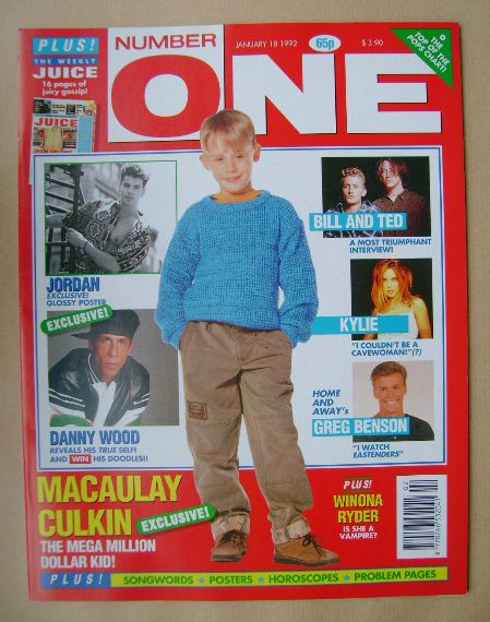 <!--1992-01-18-->NUMBER ONE Magazine - Macaulay Culkin cover (18 January 19