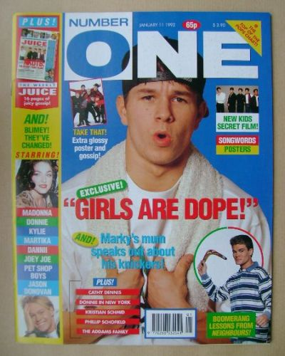 <!--1992-01-11-->NUMBER ONE Magazine - Marky Mark cover (11 January 1992)