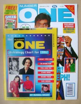 NUMBER ONE Magazine - Phillip Schofield cover (4 January 1992)