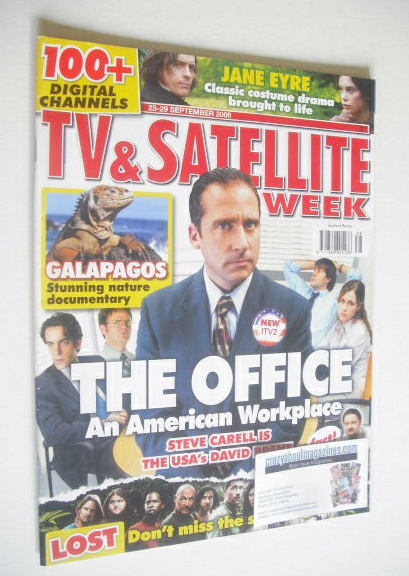 <!--2006-09-23-->TV&Satellite Week magazine - Steve Carell cover (23-29 Sep
