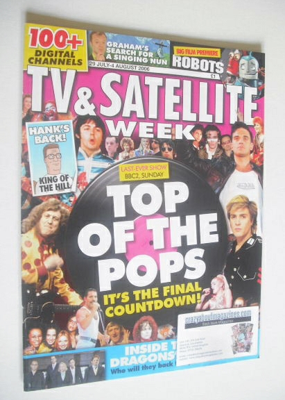 <!--2006-07-29-->TV&Satellite Week magazine - Top Of The Pops cover (29 Jul