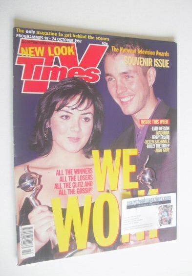 <!--1997-10-18-->TV Times magazine - Martine McCutcheon and Matthew Marsden