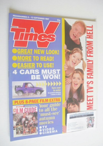 <!--1997-09-06-->TV Times magazine - TV's Family From Hell cover (6-12 Sept
