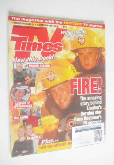 <!--1995-09-02-->TV Times magazine - London's Burning cover (2-8 September
