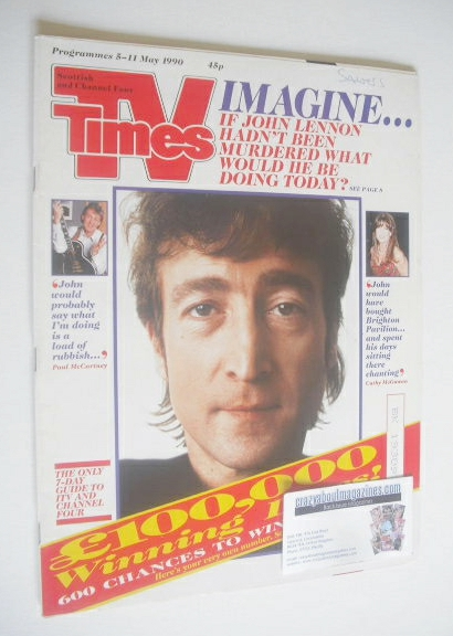 <!--1990-05-05-->TV Times magazine - John Lennon cover (5-11 May 1990)