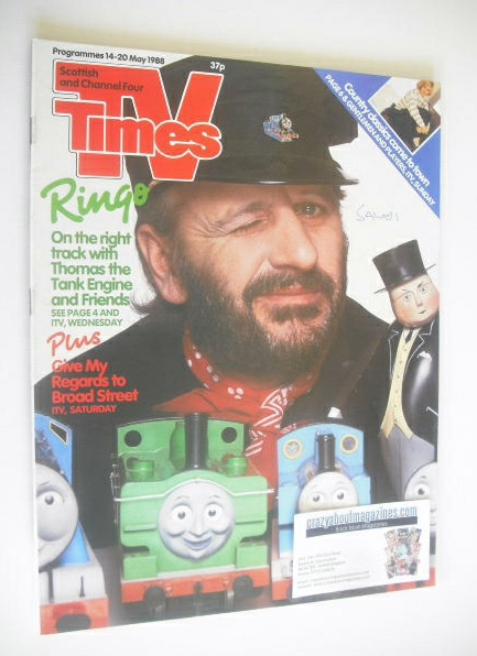 <!--1988-05-14-->TV Times magazine - Ringo Starr cover (14-20 May 1988)