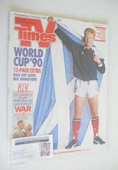 <!--1990-06-09-->TV Times magazine - Mo Johnston cover (9-15 June 1990)