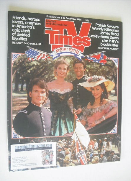 <!--1986-12-06-->TV Times magazine - North and South cover (6-12 December 1