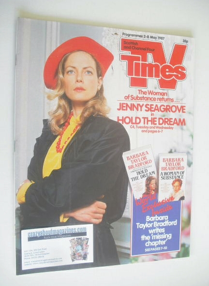 <!--1987-05-02-->TV Times magazine - Jenny Seagrove cover (2-8 May 1987)