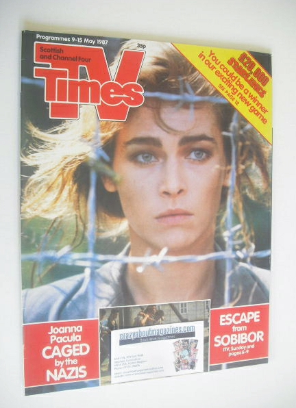<!--1987-05-09-->TV Times magazine - Joanna Pacula cover (9-15 May 1987)