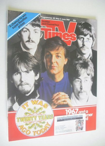 <!--1987-05-30-->TV Times magazine - The Beatles cover (30 May - 5 June 198