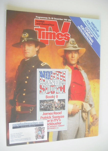 <!--1987-12-12-->TV Times magazine - James Read and Patrick Swayze cover (1