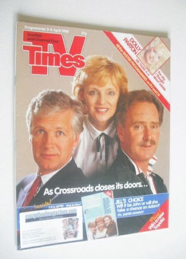 <!--1988-04-02-->TV Times magazine - Crossroads cover (2-8 April 1988)