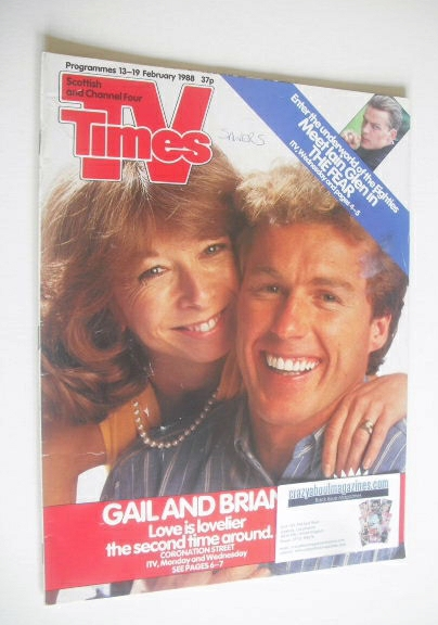 <!--1988-02-13-->TV Times magazine - Helen Worth and Christopher Quinten co