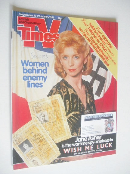 <!--1988-01-23-->TV Times magazine - Jane Asher cover (23-29 January 1988)