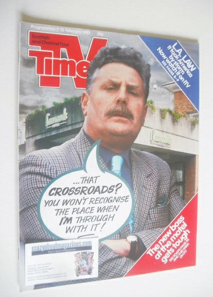 <!--1987-02-07-->TV Times magazine - Terence Rigby cover (7-13 February 198