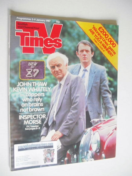 <!--1987-01-03-->TV Times magazine - John Thaw and Kevin Whately cover (3-9
