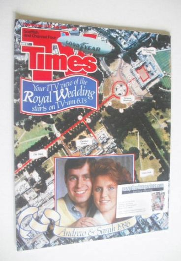 <!--1986-07-19-->TV Times magazine - Prince Andrew and Sarah Ferguson cover