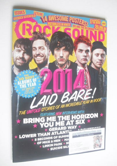 <!--2015-01-->Rock Sound magazine - 2014 In Rock cover (January 2015)